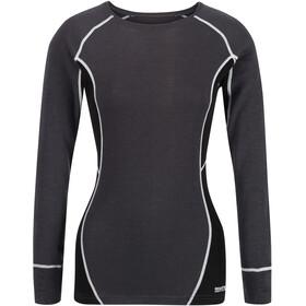 Regatta Beru LS Shirt Women seal grey/black